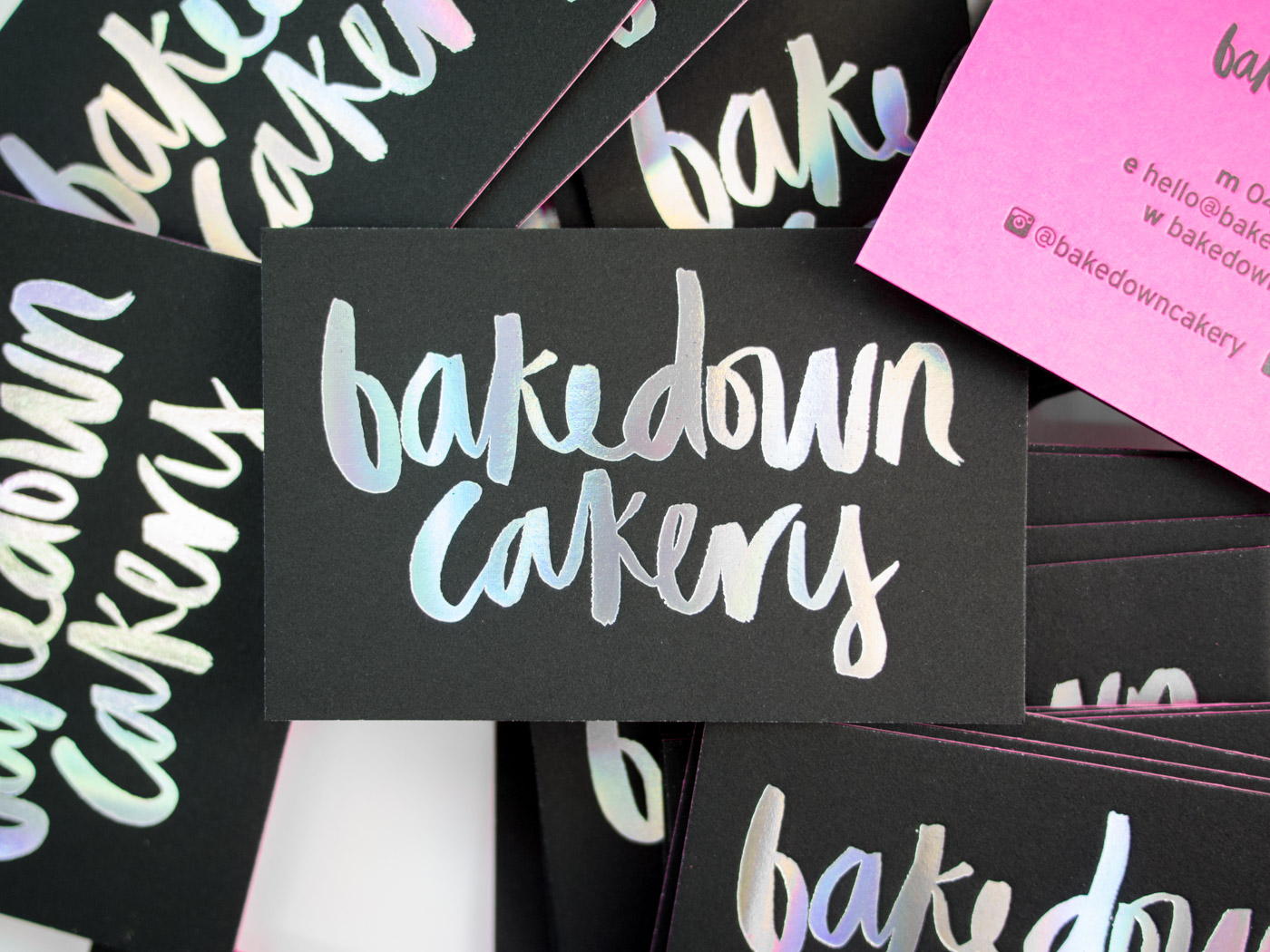 Bakedown Cakery | Printed by Parklife Press