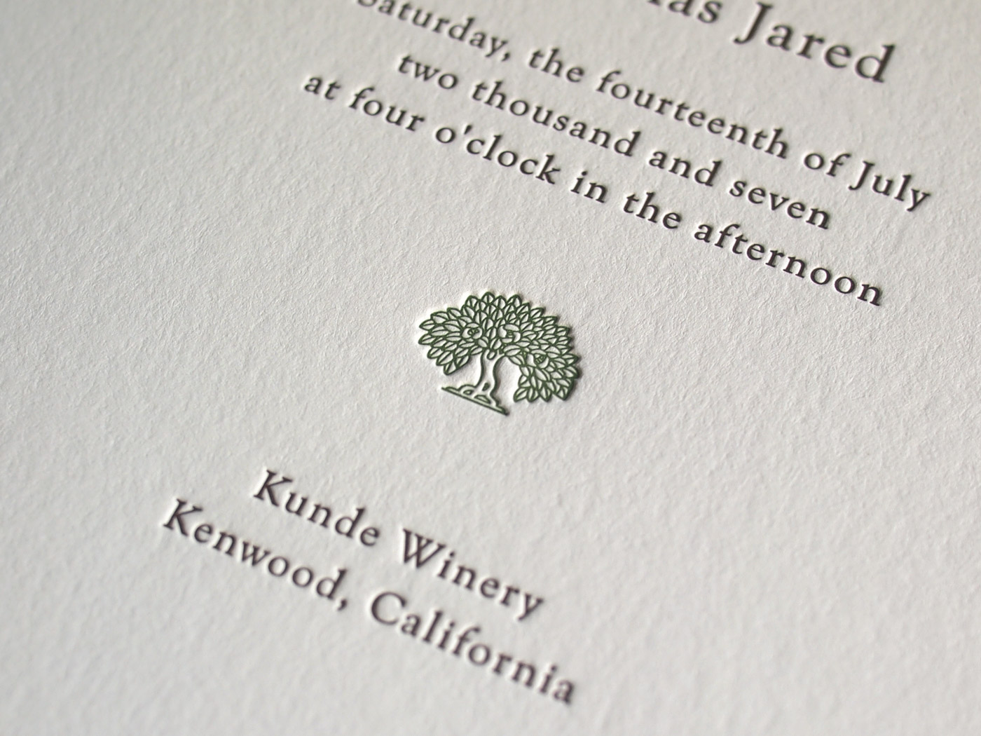 Californian invitation from Parklife Press