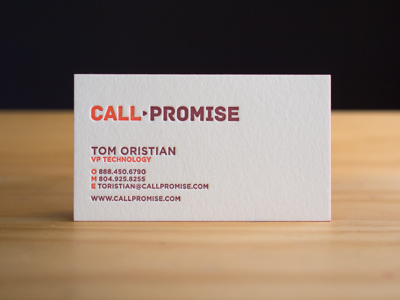 Call Promise | Printed by Parklife Press