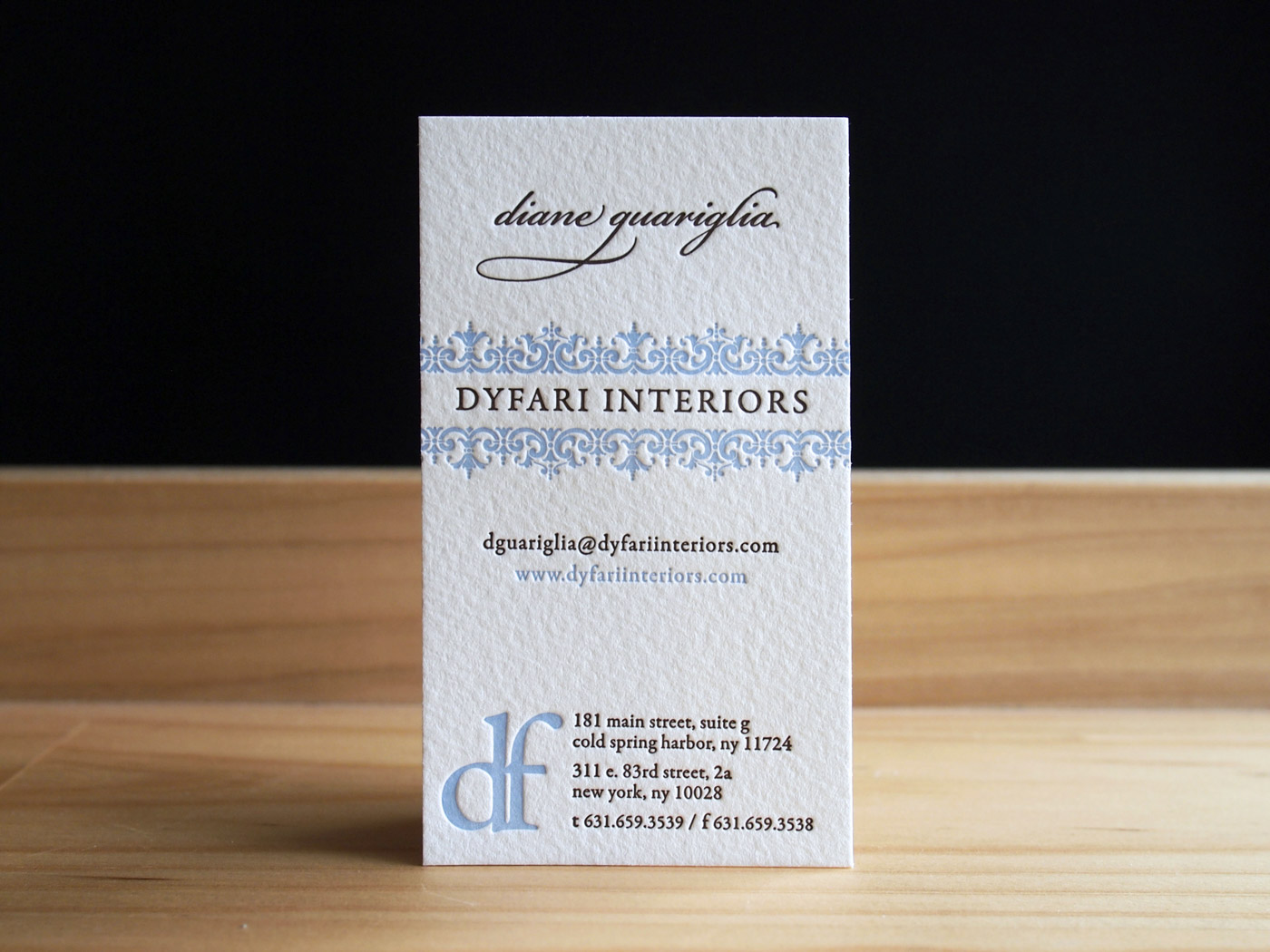 Dyfari Interiors | Printed by Parklife Press
