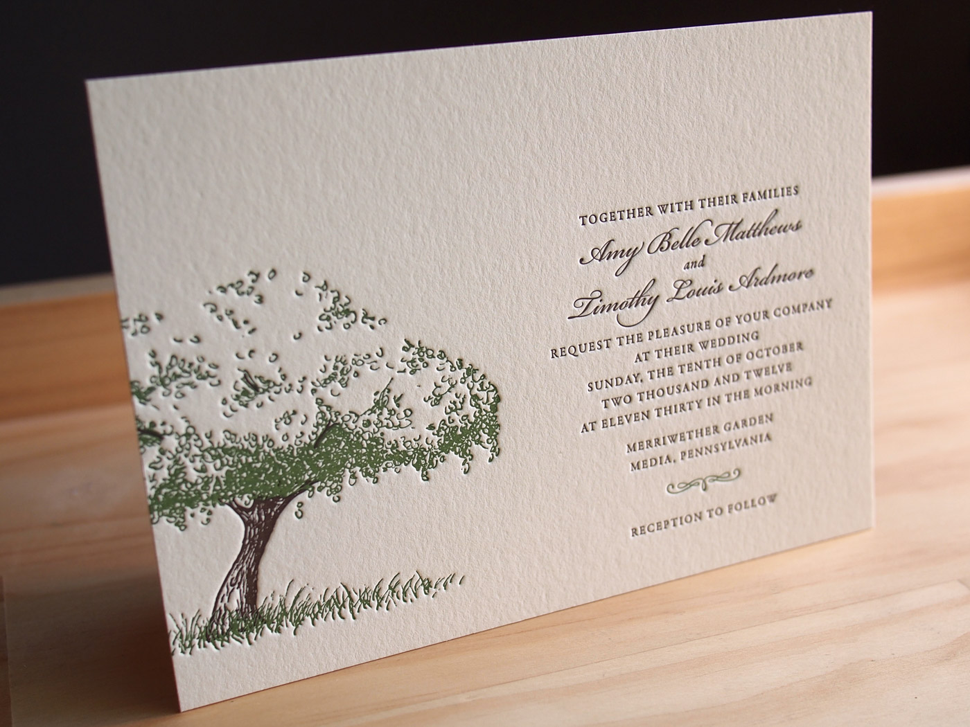 Orchard invitation from Parklife Press
