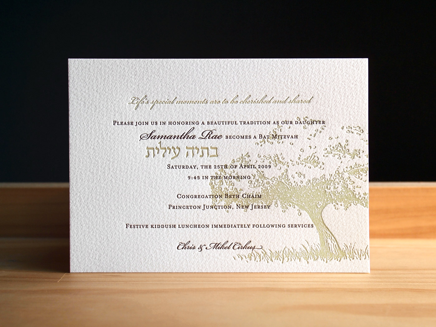 Orchard Bat Mitzvah from Parklife Press