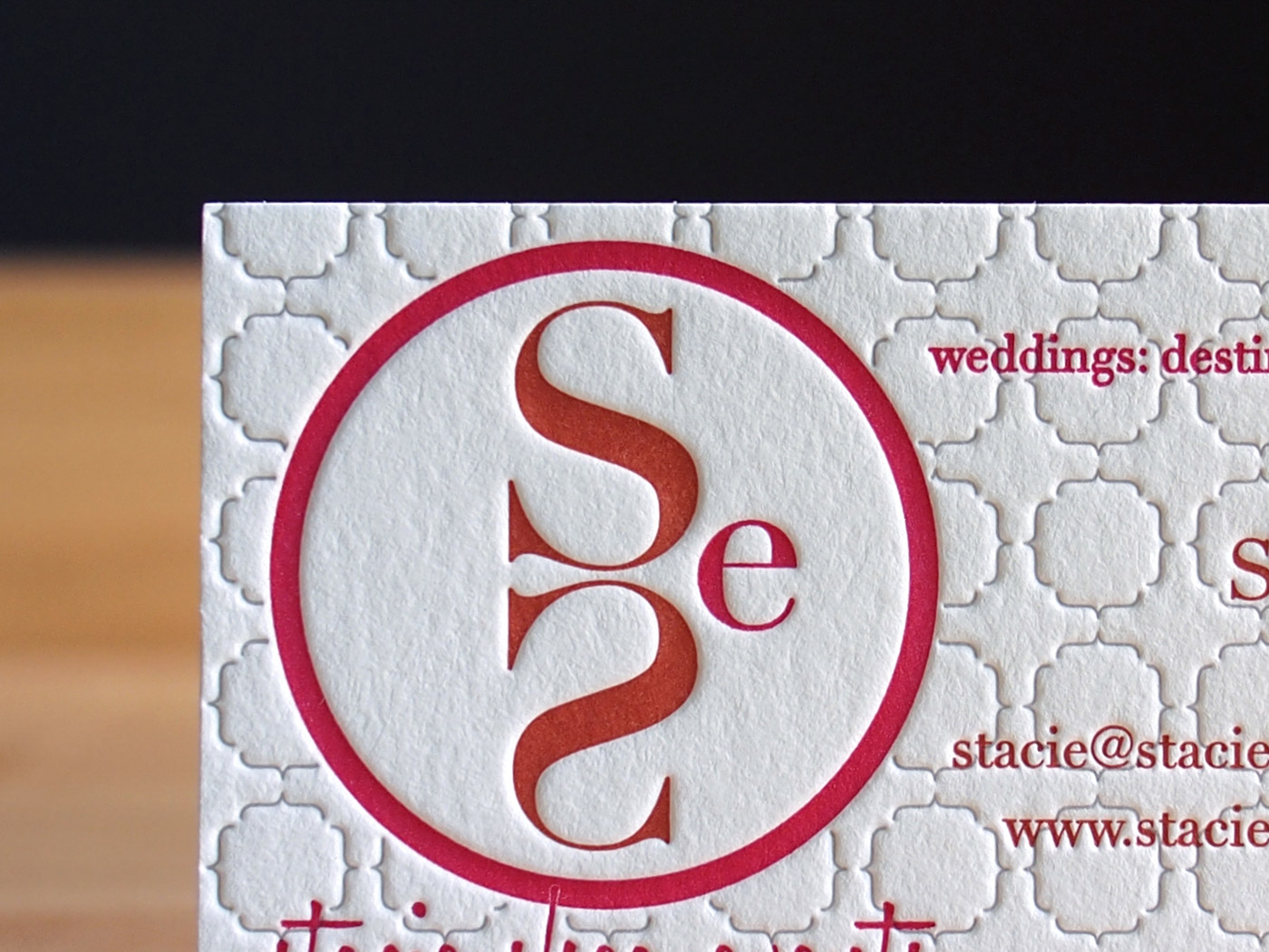 Stacie Shea Events | Printed by Parklife Press